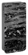 Dancing Water In Black And White Portable Battery Charger
