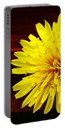 Dandelion Against Sunset With Inspirational Text Portable Battery Charger