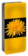 Dandelion Flower Molten Gold Effect Portable Battery Charger