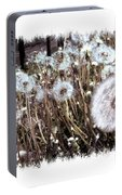 Dandelion Wishes Portable Battery Charger by Myrna Migala