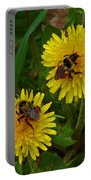 Dandelions And Bees Portable Battery Charger