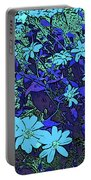 Dandy Digital Daisies In Blue Portable Battery Charger