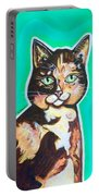Daphne The Calico Cat Portable Battery Charger