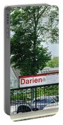 Darien Train Station Sign Portable Battery Charger