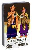 Darjeeling, Lama Dance Musicians, India Portable Battery Charger