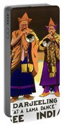 Darjeeling, Lama Dance Musicians, India Portable Battery Charger