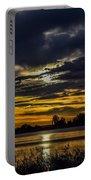 Dark Lake Sunrise Portable Battery Charger
