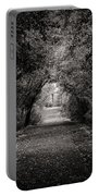Dark Path In Black And White Portable Battery Charger