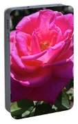 Dark Pink Rose  Portable Battery Charger