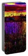 Dark Psychedelic Sunset Portable Battery Charger