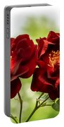 Dark Red Roses Portable Battery Charger