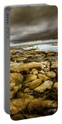 Dark Skies On Ocean Shores Portable Battery Charger