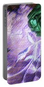 Dark Swan And Roses Portable Battery Charger by Writermore Arts