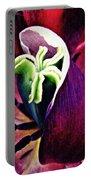 Dark Tulip Macro Portable Battery Charger