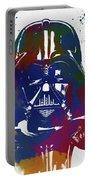 Darth Vader Paint Splatter Portable Battery Charger