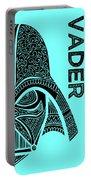 Darth Vader - Star Wars Art - Blue Portable Battery Charger