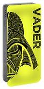 Darth Vader - Star Wars Art - Yellow Portable Battery Charger