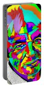 David Icke Portrait Portable Battery Charger
