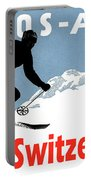 Davos, Alps, Mountains, Switzerland, Winter, Ski, Sport Portable Battery Charger