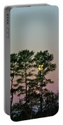 Dawn And Moon Setting - Virginia Portable Battery Charger