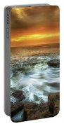 Dawn At Porthcawl Portable Battery Charger