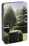 Dawn In A Topiary Garden   Portable Battery Charger
