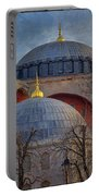 Dawn Over Hagia Sophia Portable Battery Charger by Joan Carroll