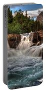 Dawn Upon Swiftcurrent Falls  Portable Battery Charger