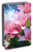 Day Light Lilies Portable Battery Charger