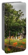 Day Lilies By A Church  Portable Battery Charger