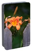 Day Lilly Fenced In Portable Battery Charger