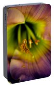 Day Lily In Purple Portable Battery Charger
