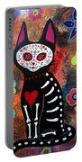 Day Of The Dead Cat El Gato Portable Battery Charger