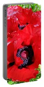Dazzling Red Poppies Portable Battery Charger