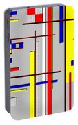 De Stijl Love Portable Battery Charger by Tara Hutton