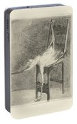 Dead Flamingo With The Legs Tied To The Handrail Of A Chair, Adriaan Pit, 1870 - 1896 Portable Battery Charger