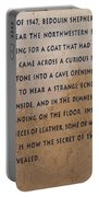 Dead Sea Scroll Document Portable Battery Charger