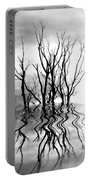 Dead Trees Bw Portable Battery Charger