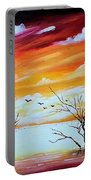 Dead Trees Reflection Portable Battery Charger