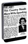 Dear Abby Country Needs More Wife Spanking Portable Battery Charger