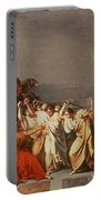 Death Of Julius Caesar Portable Battery Charger by Vincenzo Camuccini