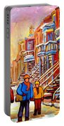 Debullion Street Winter Walk Portable Battery Charger