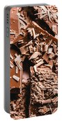 Decadent Chocolate Background Texture Portable Battery Charger