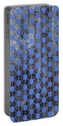 Decadent Urban Blue Patterned Abstract Design Portable Battery Charger