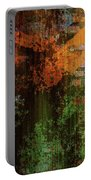 Decadent Urban Brick Green Orange Grunge Abstract Portable Battery Charger