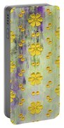 Decadent Urban Bright Yellow Patterned Purple Abstract Design Portable Battery Charger