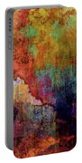 Decadent Urban Red Wall Grunge Abstract Portable Battery Charger
