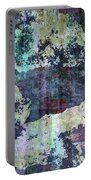 Decadent Urban White Splashed Bricks Grunge Abstract Portable Battery Charger