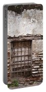 Decaying Wall And Window Antigua Guatemala Portable Battery Charger
