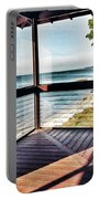 Deck With Ocean View Portable Battery Charger